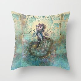 The Seahorse Diary Throw Pillow