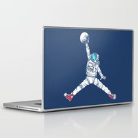 sneakers Laptop & iPad Skins featuring Space dunk by Steven Toang