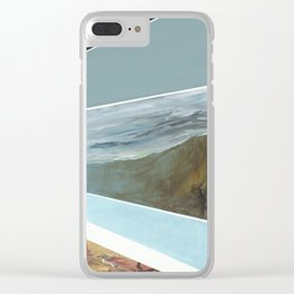 Blue Scapes Clear iPhone Case