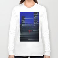 cityscape Long Sleeve T-shirts featuring Cityscape  by eyedoublecross