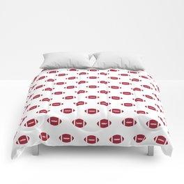 Footballs Bama alabama crimson tide pattern gifts for university of alabama students and alumni Comforters