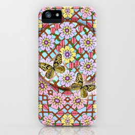 In the Garden of Love Mandala iPhone Case