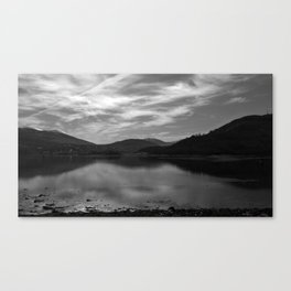 View over the Loch b/w Canvas Print