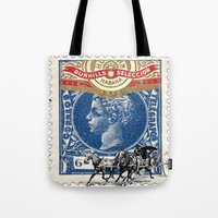 cuba Tote Bags featuring VINTAGE CUBA by RIGOLEONART