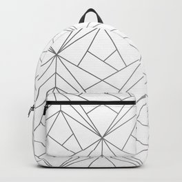 Geometric Silver Pattern Backpack