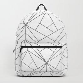 Geometric Silver Pattern Backpack