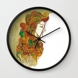 Golden Portrait Wall Clock