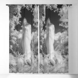 0200-GI BW Infrared Mother Nature Feminine Energy Blackout Curtain