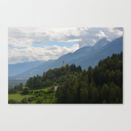 A glimpse through the forest Canvas Print