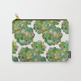 Rosette Succulents – Green Palette Carry-All Pouch