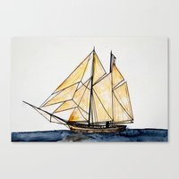 sail Canvas Prints featuring sail by The Traveling Catburys