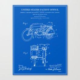 Motorcycle Sidecar Patent 1912 - Blueprint Canvas Print