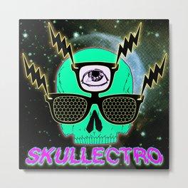 Skullectro Metal Print
