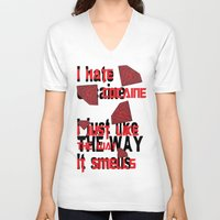 cocaine V-neck T-shirts featuring I hate Cocaine #4 by John D'Amelio
