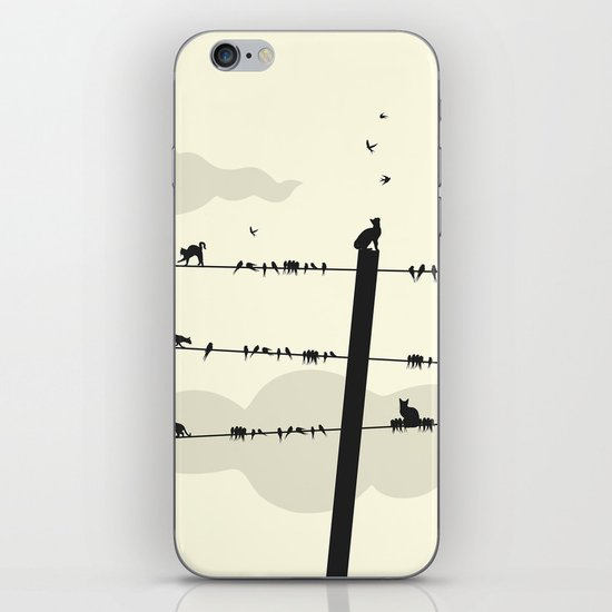 Cats and Birds iPhone Skin