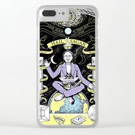 Carl Sagan Clear iPhone Case