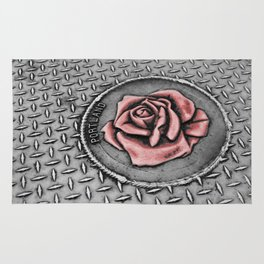 The rose beneith my feet Rug