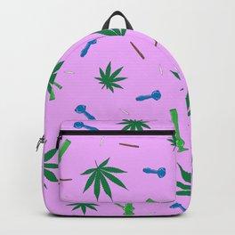 Weed Leaf, Bongs, Pipes, Joint, Blunts Pattern Backpack