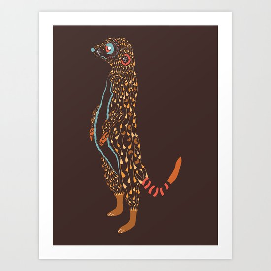 Abstract Meerkat Art Print