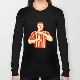 Basketball Referee Technical Foul Retro Long Sleeve T-shirt