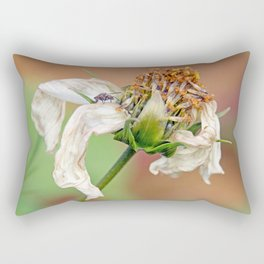 "flower, white flower, fly, insect, macro, photo-macro. ""Destructured flower and little fly"" Rectangular Pillow"