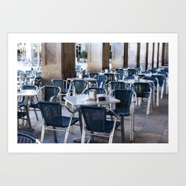 Cafe at Barcelona, Plaza Reial, Travel photography Art Print