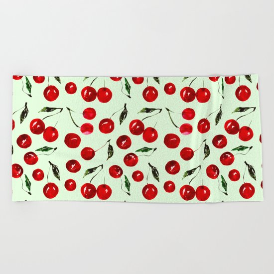 Very cherry Beach Towel