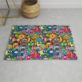 All robots - cute and colorful pattern Rug