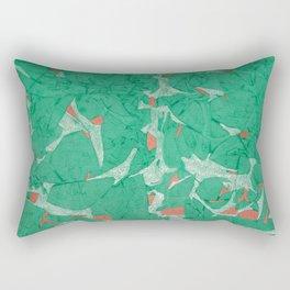 Birds - Abstract Watercolor Painting Rectangular Pillow