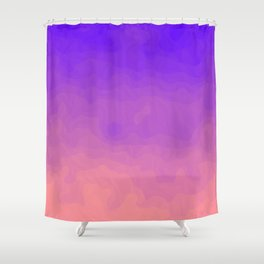 Pink and Purple Ombre - Swirly - Flipped Shower Curtain