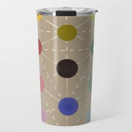 Colour cube (black point), Manual of the science of colour by W. Benson, 1871, Remake, vintage wash Travel Mug
