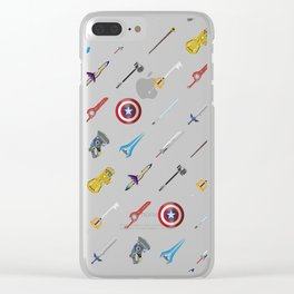Fantasy Weapons Pattern Clear iPhone Case