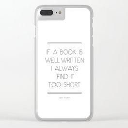 Jane Austen Quote Clear iPhone Case