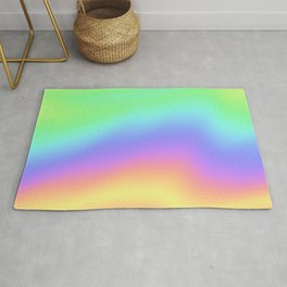 Holographic Foil Colorful Gradient Pattern Rug