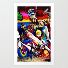 Hipster Jesus  Art Print