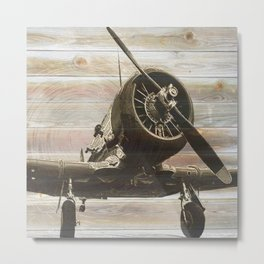 Old airplane 1 Metal Print