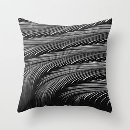 ALCHEMY dark grey mysterious wave abstract pattern Throw Pillow