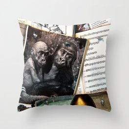 Melody for a Monkey - BERLIN - Germany Throw Pillow
