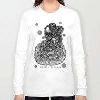 gothic Long Sleeve T-shirts featuring Gothic Skeleton by AKIKO