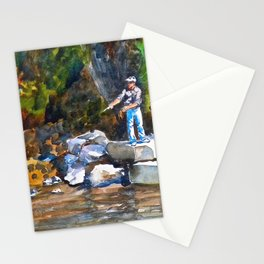 Young Fisherman Stationery Cards