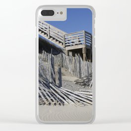 Beach Lines Clear iPhone Case