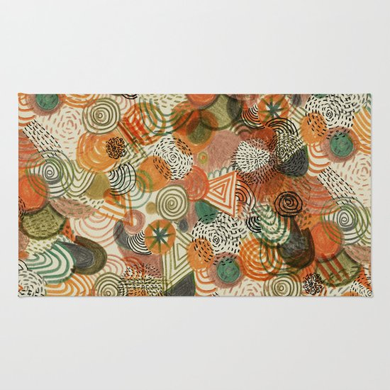 Tomatoes and pickles  Rug