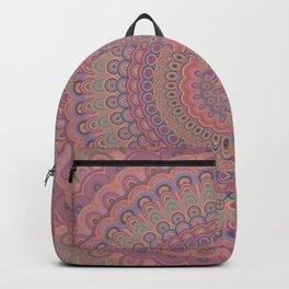 Boho oval mandala Backpack