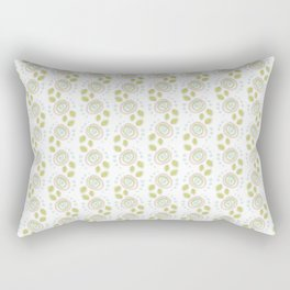 Background abstract flowers, pattern, vector, texture design. Rectangular Pillow