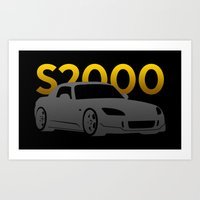 honda Art Prints featuring Honda S2000 by Vehicle