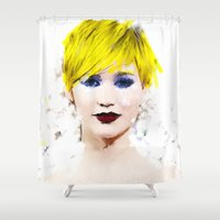 law Shower Curtains featuring J Law by André Joseph Martin