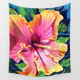 Tropical Bliss Hibiscus Wall Tapestry