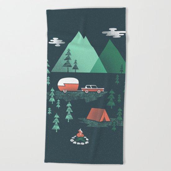 Pitch a Tent Beach Towel