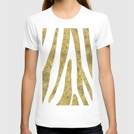 Golden exotics - Zebra and crisp white T-shirt