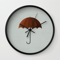 mary poppins Wall Clocks featuring Mary Poppins by Christian Jackson